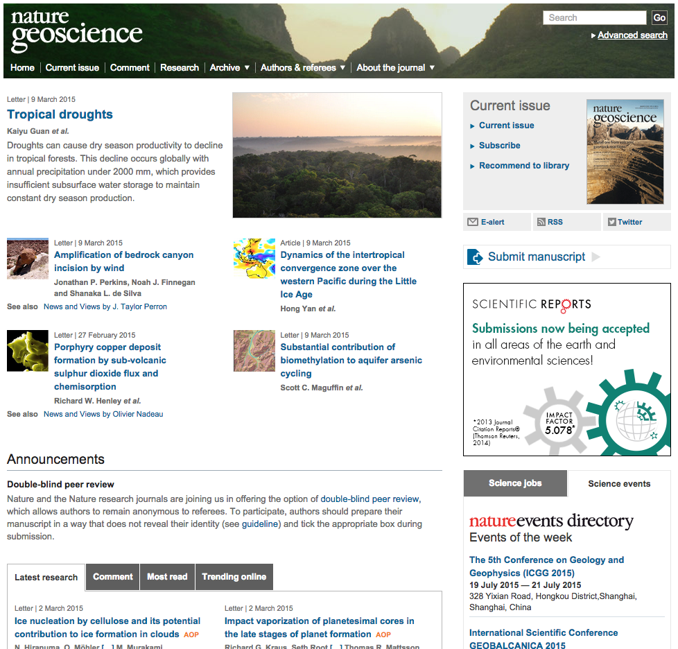 New paper in Nature Geoscience
